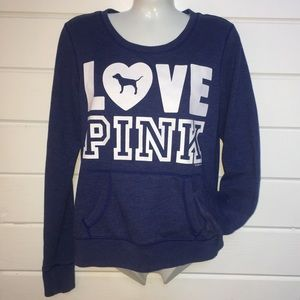 PINK Love Pink Cozy Sweatshirt w Pocket Sz S